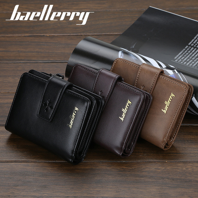 New Business Men Wallets Zipper Card Holder High Quality Male Purse New PU Leather Vintage Coin Holder Men Wallets 6