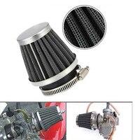Filtro de ar da motocicleta cogumelo cabeça filtros universal 35mm 44mm 50mm 54mm 60mm motocicleta filtro de entrada de ar mais limpo preto|Filtros de ar e sistemas|   -