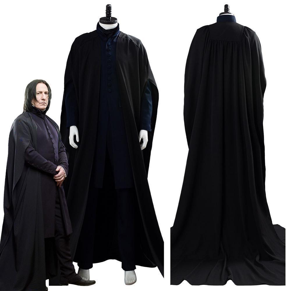 New Hogwarts School Severus Snape Uniform Suit Cosplay Costume Custom Made