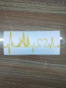 Image 5 - Tent Camper Heartbeat Lifeline Monitor Camping Decal Sticker Car Truck SUVs Motorcycle Car Styling Vinyl Decals Car products