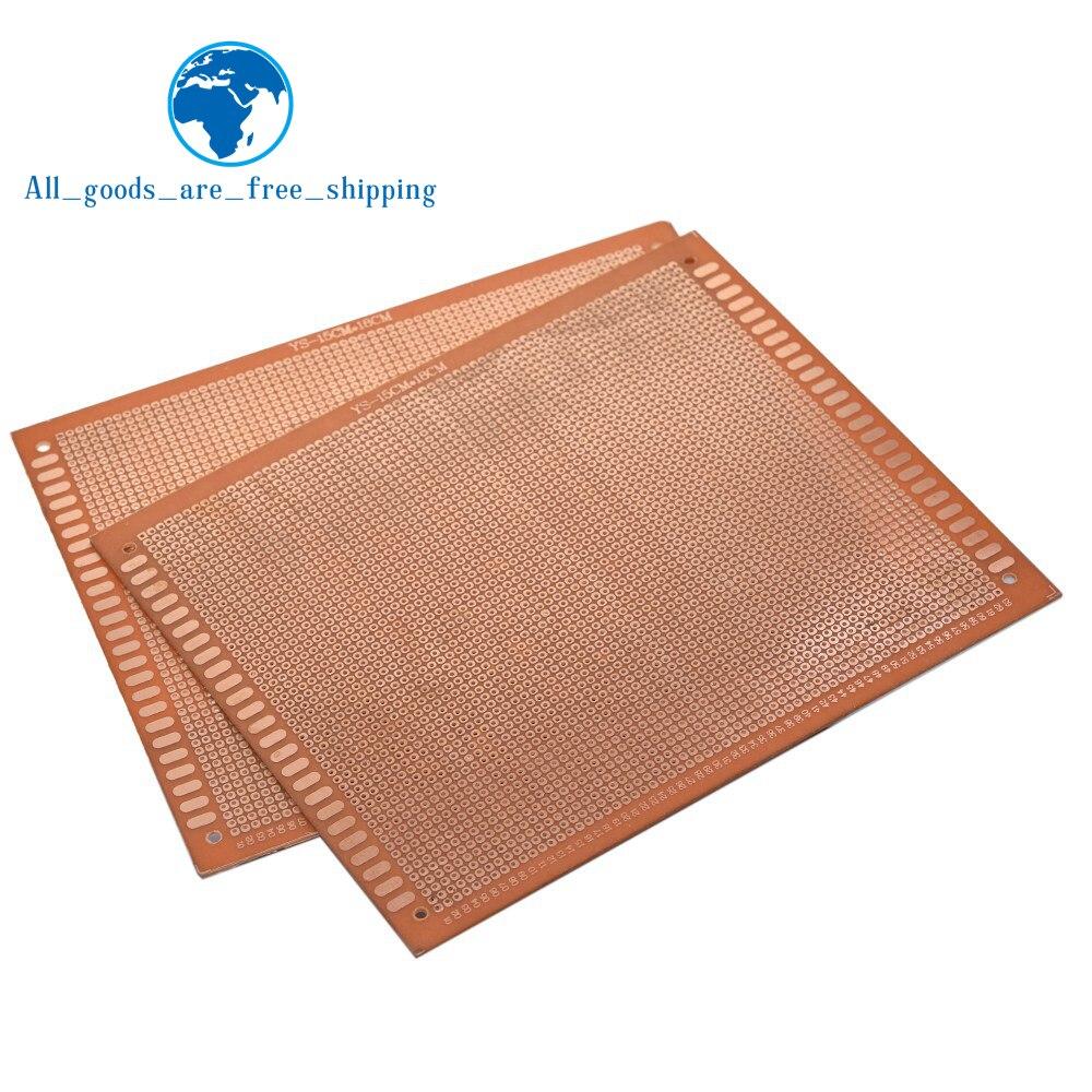 1 pièces 15x18 cm 15*18cm Prototype simple face 2.54mm PCB platine de prototypage universel expérimental bakélite plaque de cuivre circuit imprimé  