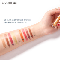 FOCALLURE PLUMPMAX Nourise Lip Glow High Shine&Shimmer Glossy Lips Makeup Non Sticky Plumping Lip Gloss 3