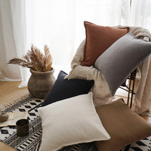 Plain Color Simple Cushion Cover Cotton And Linen High Quality Soft Throw Pillow Cover Sofa Bedside Home Decoration 2 sizes 1pcs murder plain and simple