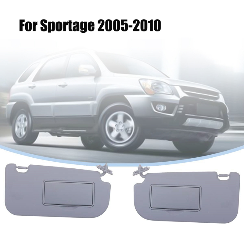 1Pair Car Inner Sun Visor Shield Shade Board with Mirror for KIA Sportage 2005 2006 2007 2008 2009 2010 image