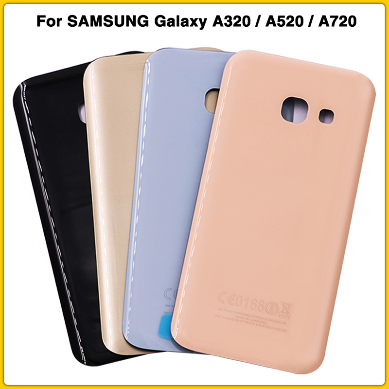 Rear Housing Case For <font><b>SAMSUNG</b></font> Galaxy A3 <font><b>A5</b></font> A7 2017 A320 <font><b>A520</b></font> A720 Battery Back Cover Door Rear cover + Adhesive image