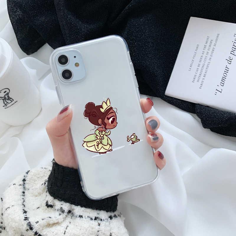 أميرات صغيرة لطيف حورية البحر حسناء سنووايت سيليكون Coque لينة غطاء إطار هاتف محمول آيفون 11 برو ماكس X Xs Xr 7 8 زائد حالات
