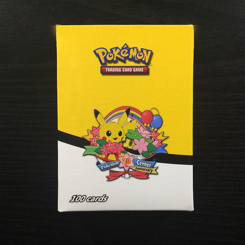 TAKARA TOMY 100pcs Pokemon Cards Sun Moon Collections Battle Shining Card Deck Board Game Children Toys 95 GX 5 MEGA Flash Card