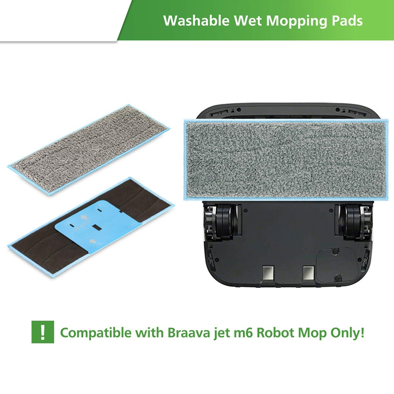 12 PCS Cleaning Cloth Accessories for IRobot Braava Jet M6 (6110) Wi-Fi Connected Robot Mop Vacuum Cleaner Cleaning Cloth IRobot