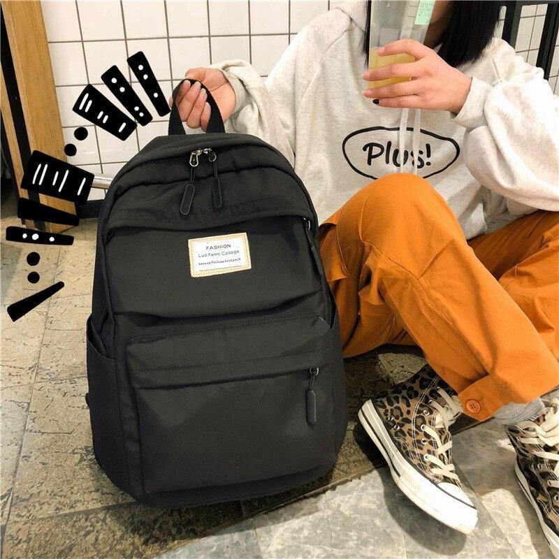 DIHOPE Large Capacity High Schoolbags Waterproof Nylon Women Backpack Female Girl Shoulder Bags Travel Bag Mochila 2020 New