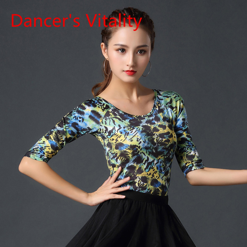 Latin Dance Fashion Tops New Female Adult Modern National Standard Dance Tops Ballroom Dance Costumes Performance Dance Clothes