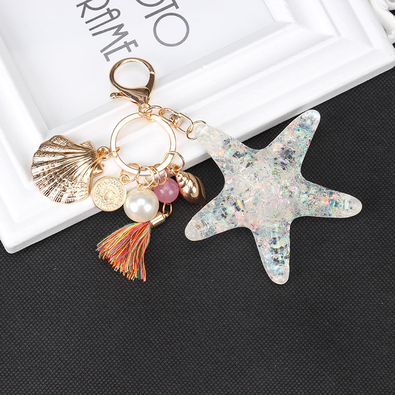 Fashion Starfish Keychain Key Ring Bag Pendant Birthday Gift Key Hook