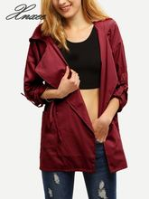 Xnxee Spring Autumn Women Long Jacket Female Casual Coat Bomber Jacket Basic Outwear Loose Wind Coats цена
