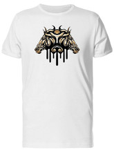 Copper Horse Shield Design Men'S Tee -Image By Bodybuilding Tee Shirt(China)