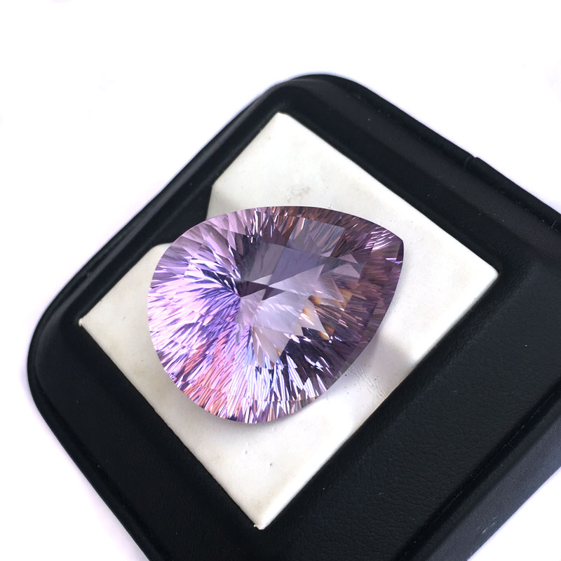 CSJ Natural Amethyst Loose Gemstone Quartz Crystal Concave Cut For Diy Fine Jewelry 925 Silver Gold Ring Mounting