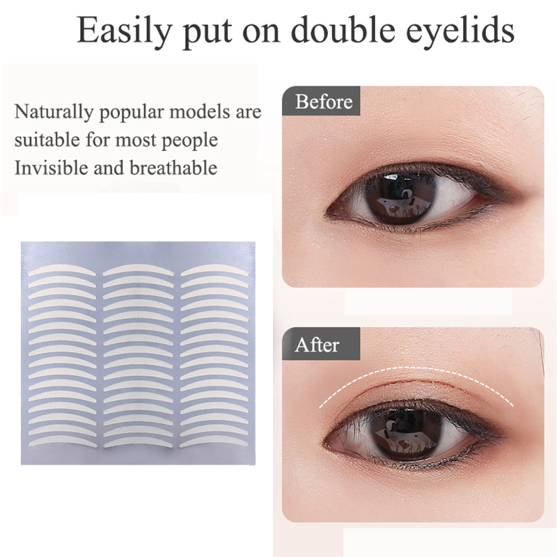 1Set 120 Pairs Women Invisible Double Eyelid Tapes Makeup Eye Stickers Fork Makeup High Quliaty Nice
