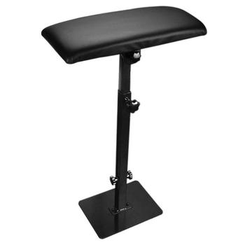 Portable Tattoo Armrest Stand Rack Tattoo Stainless Steel PU Leather Case Square Alloy Plate Bottom Arm Rest Stand Holder