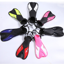 Adjustable Super-soft Comfortable Snorkeling Swimming Fins Long Flippers Diving Training Equipment for Children Kids Adults A children outdoor swimming flippers diving monofin for kids training learning accessories 8