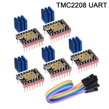 BIQU TMC2208 V3.0 UART Kits MKS Stepper Motor StepStick Mute Driver For SKR V1.3 PRo MKS 3d Printer Control Board biqu 3d printer control motherboard biqu base v1 0 compatible mega2560