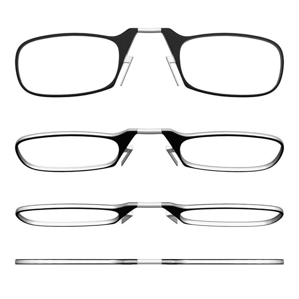 Clip Nose Mini Reading Glasses For Women Optical Glasses For Men With Box Wallet Prescription Eyeglasses