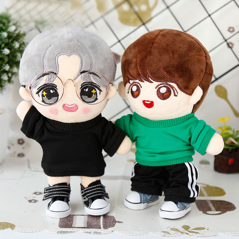 20CM Star EXO Doll Baby Clothing Casual Line Of Tops And Sweatpants Doll Clothes  Accessories