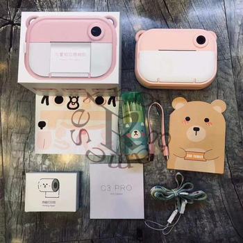 C3 dla dzieci aparat fotograficzny do Polaroid natychmiastowy aparat fotograficzny aparat dziecięcy Mini zabawki do Polaroid aparat cyfrowy jako prezent tanie i dobre opinie RICH 720 p (hd) Użytku domowego Elektroniczny stabilizacja obrazu Słabe Oświetlenie Funkcja Kamery PORTABLE 101g-150g