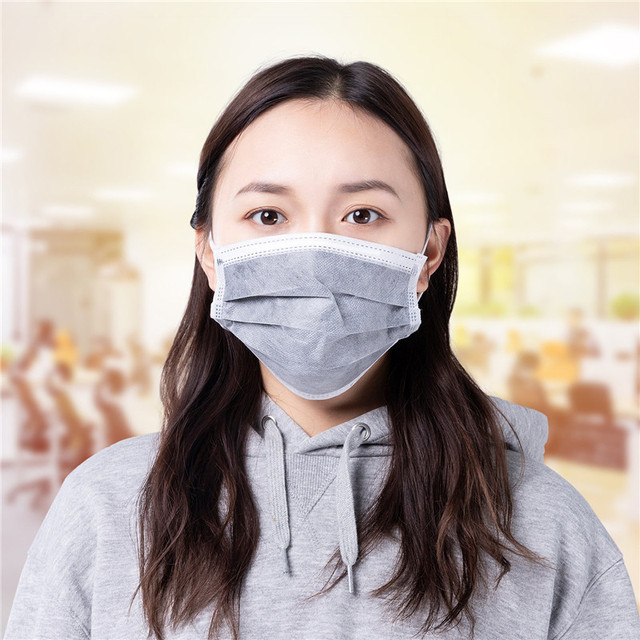 10pcs Men Women adult Cotton Anti Dust Mask Activated Filter 3 layers mouth mask muffle Bacteria Proof Flu Face Masks 3