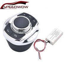 SPEEDWOW חדש כוס צורת עם LED אור 8 מפתח רכב אלחוטי כפתור שליטת הגה לרכב אנדרואיד ניווט נגן