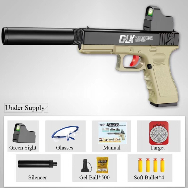 Outdoor Toys Kids Guns Weapon M1911 Pistol Airsoft Air Guns Plastic Model Collection Can Launch Guns Boys Toy For Kids 4
