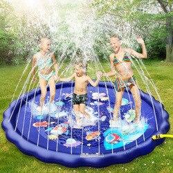 170 см Детские водяные игрушки, коврик для детей, летний пляжный надувной спрей, подушка для воды, уличный газон, детский игровой коврик, игров...