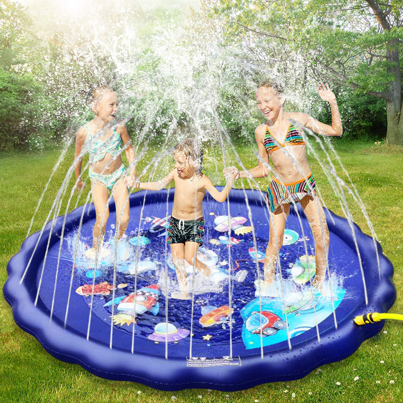 170CM Baby Toys Water Mat Children's Mat Summer Beach Inflatable Spray Water Cushion Outdoor Lawn Baby Play Mat Games Playmat