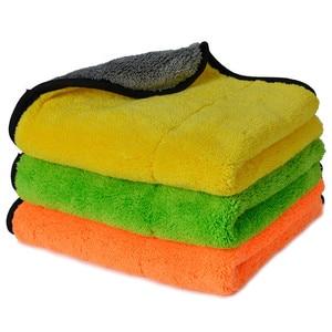 Image 1 - Super Thick Plush Microfiber Car Cleaning Cloths AUTOYOUTH Car Care Microfibre Wax Polishing Detailing Towels 45cmx38cm 3 Colors