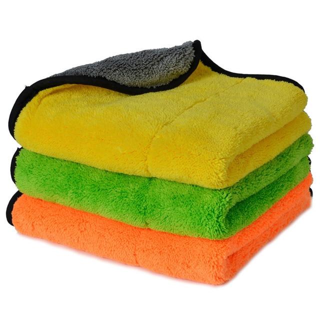 Super Thick Plush Microfiber Car Cleaning Cloths AUTOYOUTH Car Care Microfibre Wax Polishing Detailing Towels 45cmx38cm 3 Colors