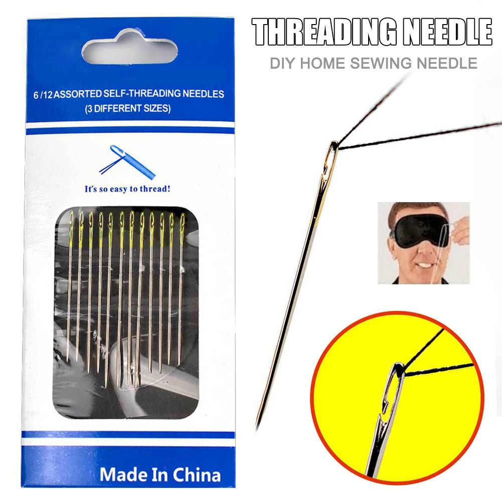Nieuwe Self-Threading Naalden Set Side Opening Hand Naaien Huis Huishouden Gereedschap Wxv Koop