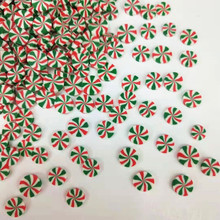 20g/lot Lollipop Polymer Green&Red Clay Sprinkles For DIY Crafts Tiny Cute bonbon Candy plastic klei Mud Particles Card Making(China)