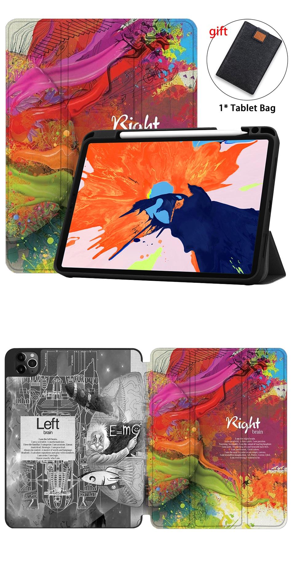 Leather TPU 2020 Case For iPad Pro Back A2229 Gen MTT PU 4th Release 12.9 A2233 Soft