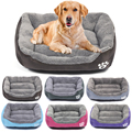 Large Pet Cat Dog Bed 8Colors Warm Cozy Dog House Soft Fleece Nest Dog Baskets House Mat Autumn Winter Waterproof Kennel S-XL