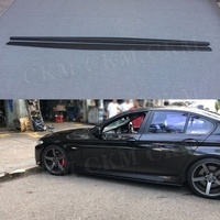 5 Series Carbon Fiber Side Skirts Aprons For BMW F10 M5 Sedan 2012 2017 FRP Skid Plate Sill Mouldings Strips Car Styling