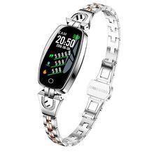 H8 سوار ذكي مقاوم للماء النساء الرياضة Smartband معدل ضربات القلب ضغط الدم ساعة مراقبة جهاز تعقب للياقة البدنية ل iOS ل أندرويد
