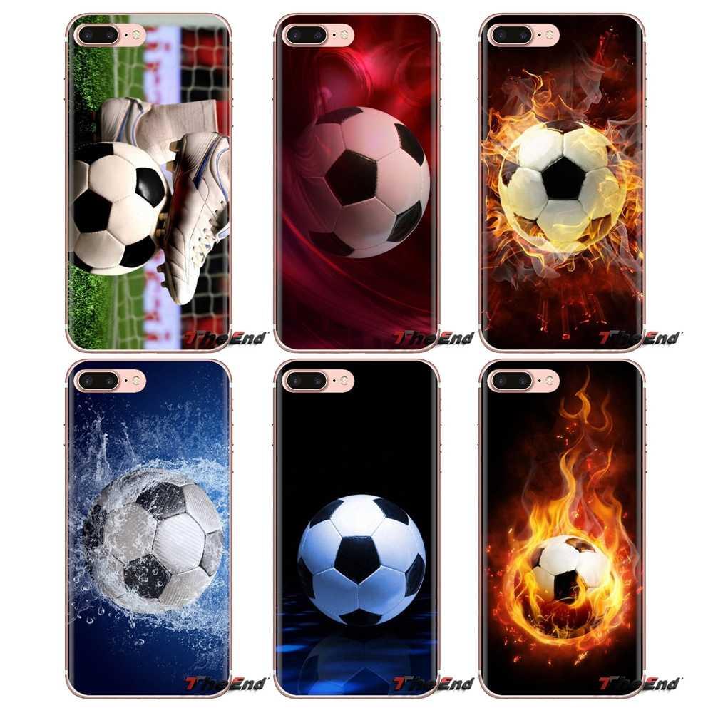 الرياضة هواية النار كرة القدم كرة القدم لهواوي G7 G8 P7 P8 P9 P10 P20 P30 لايت البسيطة برو P الذكية زائد 2017 2018 2019 لينة حالات