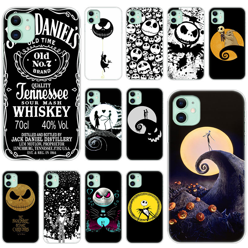 Heißer Nightmare Before Christmas Jack Skeleton Weiche Silikon Fall für Apple <font><b>iPhone</b></font> 11 Pro XS Max X XR 6 6s 7 8 Plus 5 <font><b>5s</b></font> SE Abdeckung image
