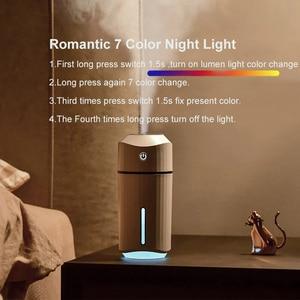 Image 3 - Car Air Humidifier Mini USB Colorful Night Light for Home Car Badroom Desktop Simple 320ML Humificador Aromaterapia Para Casa