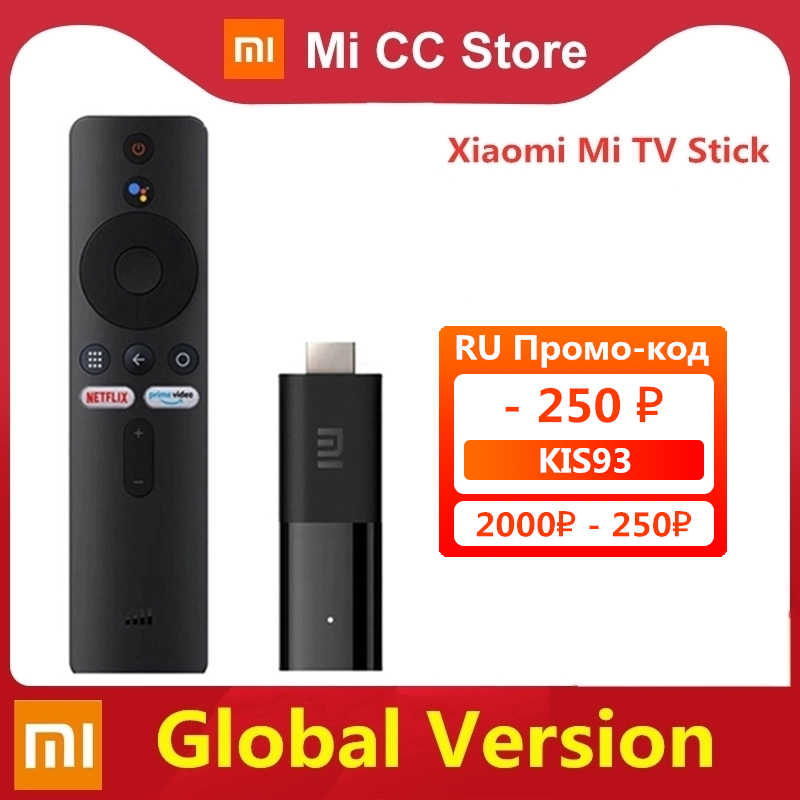 Global Versie Xiaomi Mi Tv Stick Android Tv 9.0 Smart 2K Hdr 1Gb Ram 8Gb Rom Bluetooth 4.2 Mini Tv Dongle Wifi Google Assistent