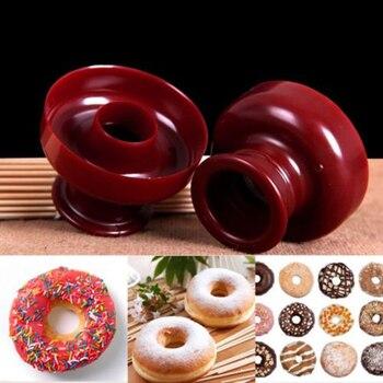 Пластиковая форма для пончиков, портативный пончик, ручная вафельница, дозатор для пончиков, вафельная машина, легкий Фрай, кухонные инструменты для выпечки