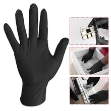 10PCs Comfortable Rubber Disposable Mechanic Laboratory Safety Work Nitrile Gloves Black Safety Work Gloves