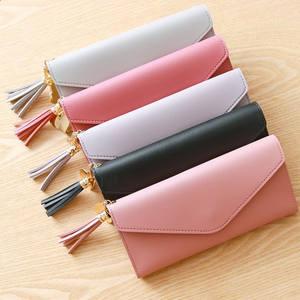 Long Wallets Purses Clutch-Bag Money-Coin Girl Ladies Card-Holder Pocket Phone Tassel