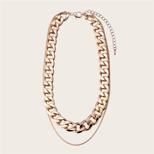 цена на Doreen Box Fashion Multilayer Layered Necklace Gold/Silver Color Chain Necklace Women Men Punk Style 32.5cm(12 6/8