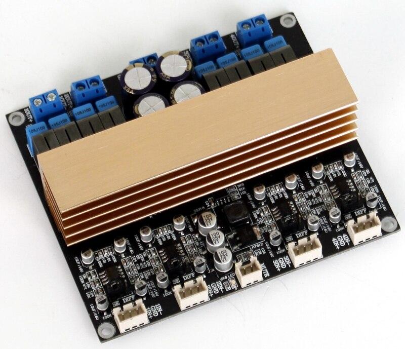 2020 New DC24-48V 08 * 94MM Class D Luxury Amplifier Board TPA3255 Four-channel High-power Digital Class D Amplifier Board