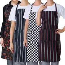 Para Mujer cocina Chef cocina restaurante babero delantal vestido con 2 bolsillos Chef Delantales para camarero Baberos accesorio de cocina
