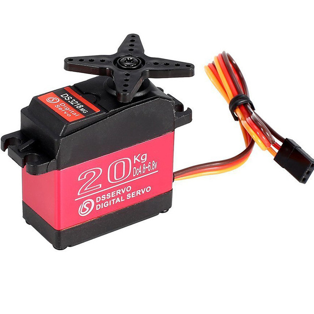 Waterproof DS3218MG 60g Digital Servo Metal Gear 20KG Torque for RC Car Robot Baja Buggy Truck Boat Airplane Helicopter