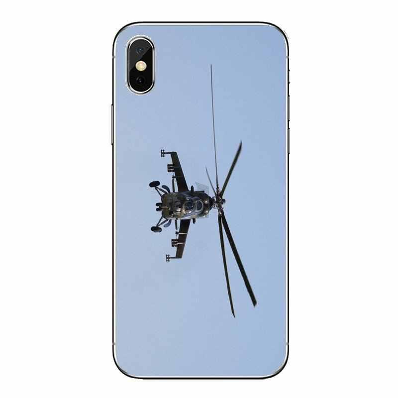 Ipod touch の iphone 4 4S 5 5S 5C SE 6 6S 7 8 × XR XS プラス最大シリコンケースカバーミル Mi 24 後肢ヘリコプター軍事装備